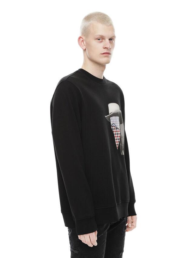 Diesel - SNEILB-PEZZABOY, Black - Sweatshirts - Image 3
