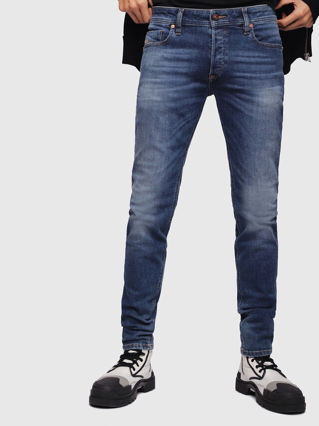 Diesel - Sleenker C86AM, Medium Blue - Jeans - Image 1