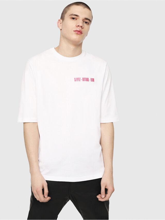 Diesel - T-YOSHIMI, Blanc/Rose - T-Shirts - Image 1