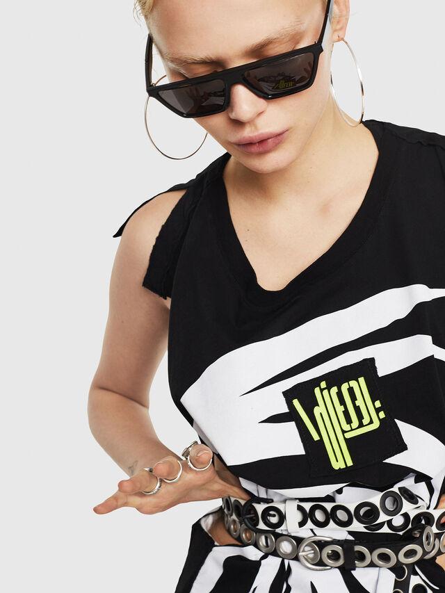 Diesel - T-DESY-B, Black/White - T-Shirts - Image 3