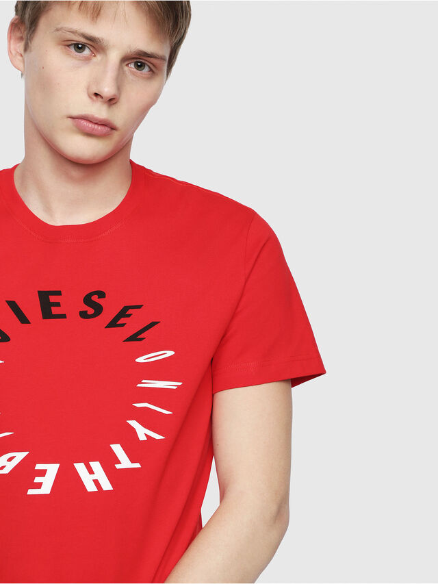Diesel - T-DIEGO-Y2, Red - T-Shirts - Image 3