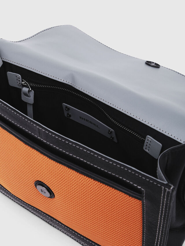 Diesel - MISS-MATCH CROSSBODY, Blue/Orange - Crossbody Bags - Image 3