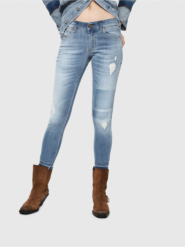 Diesel - Slandy Low 086AH, Light Blue - Jeans - Image 1