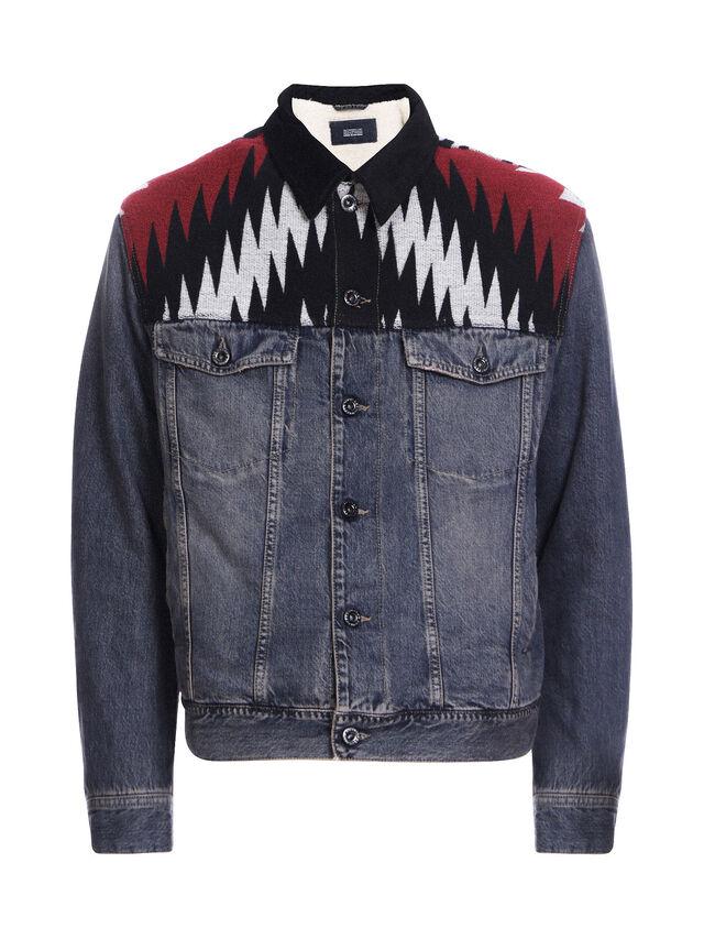 Diesel - JARGO-DEN, Blue Jeans - Jackets - Image 5