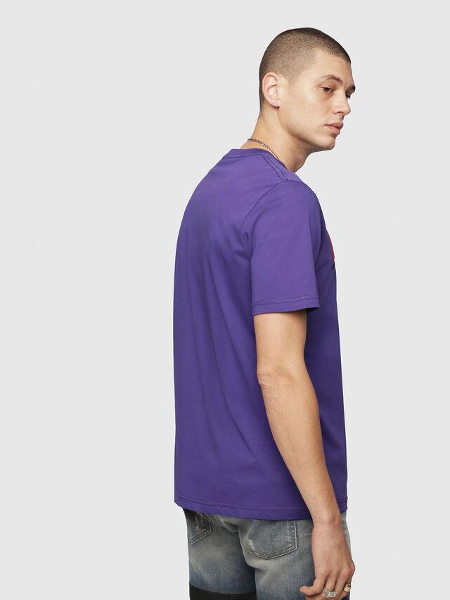Diesel - T-JUST-DIVISION, Violet - T-Shirts - Image 2