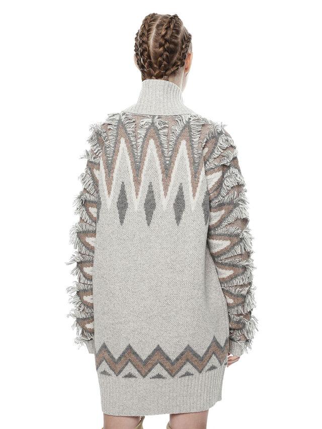 Diesel - MYLOR-LONG, Light Grey - Sweaters - Image 2