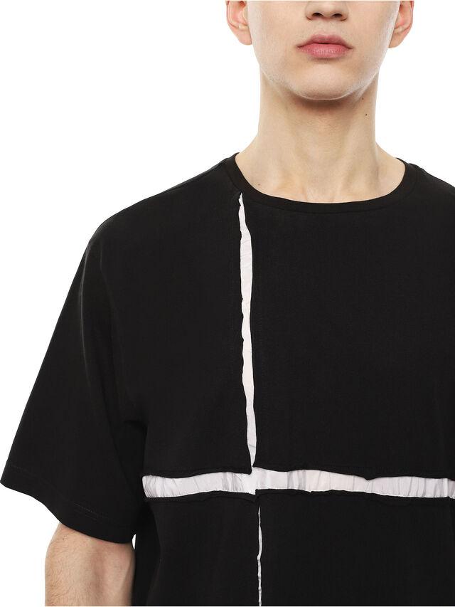 Diesel - TCUT, Black/White - T-Shirts - Image 3