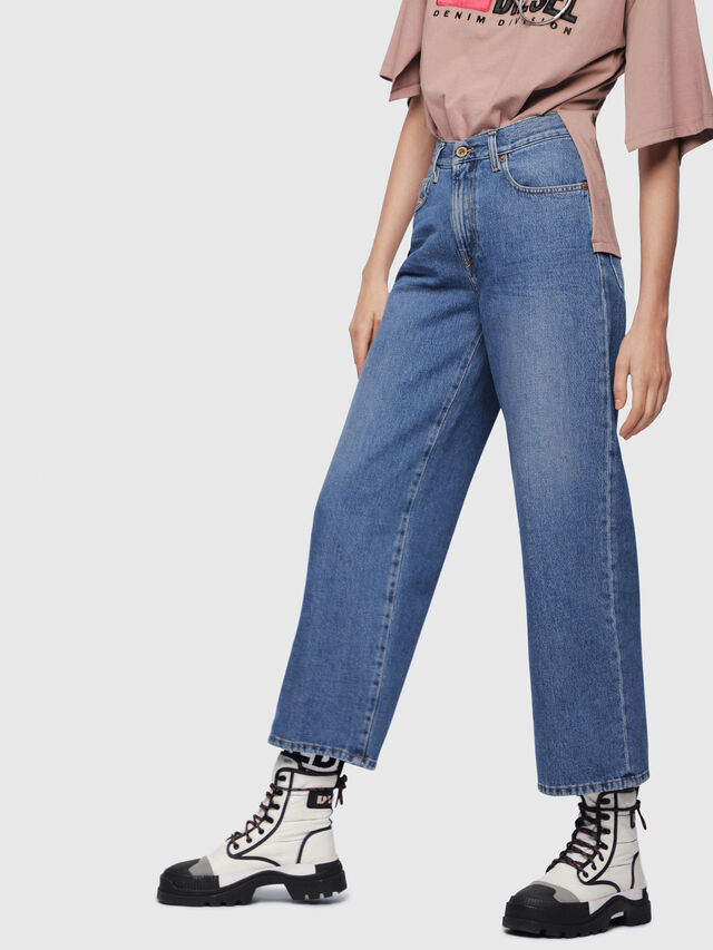 Diesel - Widee 080AN, Medium Blue - Jeans - Image 1