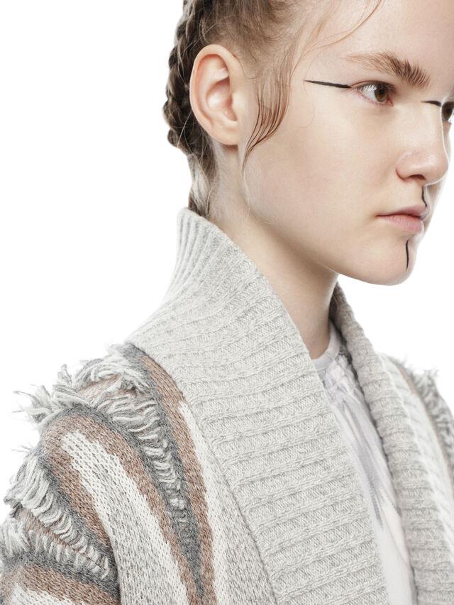 Diesel - MYLOR-LONG, Light Grey - Sweaters - Image 5