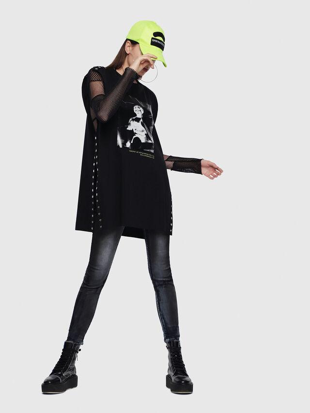 Diesel - Gracey JoggJeans 086AZ, Black/Dark Grey - Jeans - Image 4