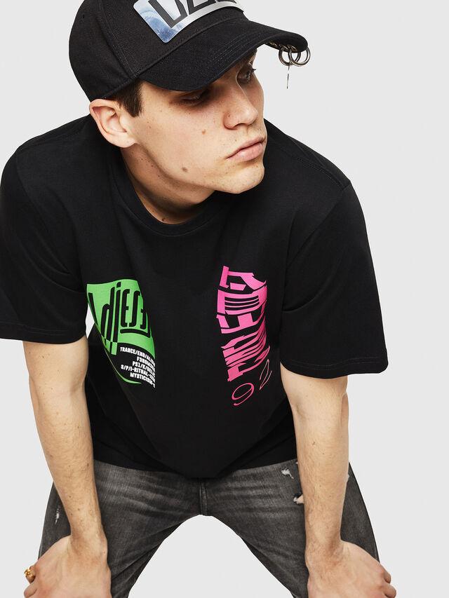 Diesel - T-JUST-Y20, Noir - T-Shirts - Image 4