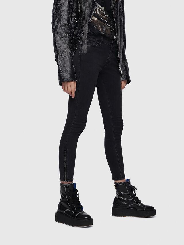 Diesel - Slandy Zip 0680I, Black/Dark Grey - Jeans - Image 1