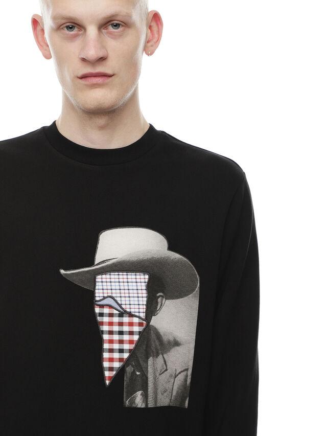 Diesel - SNEILB-PEZZABOY, Black - Sweatshirts - Image 4