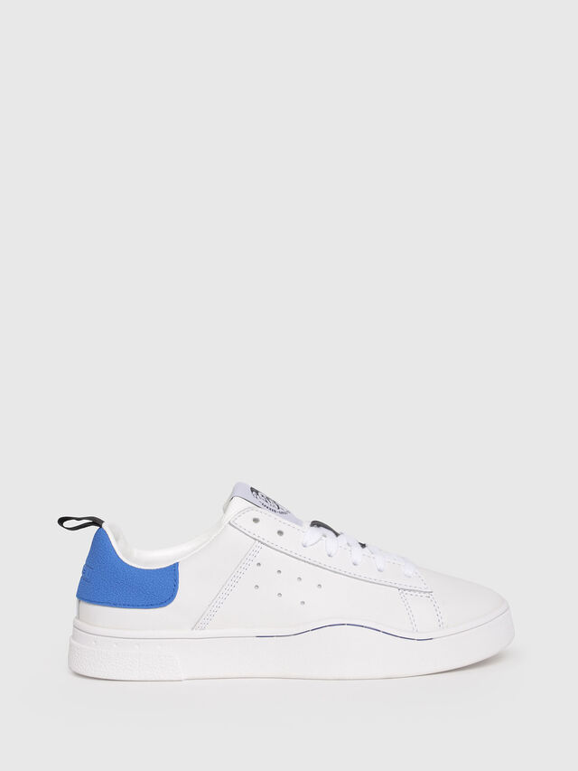 Diesel - S-CLEVER LOW W, White/Blue - Sneakers - Image 1