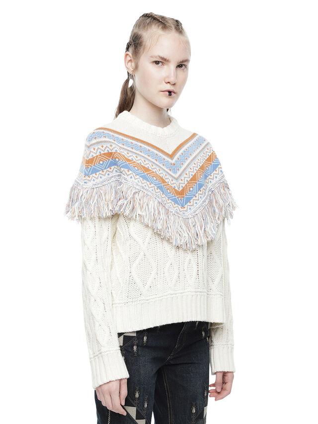 Diesel - MULTIRD, White - Sweaters - Image 3