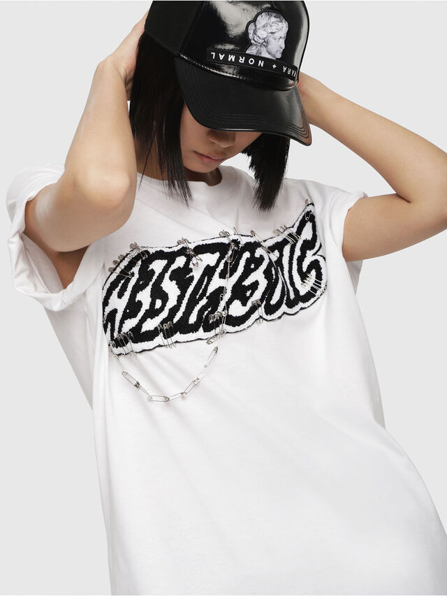 Diesel - T-DARIA-G, Blanc - T-Shirts - Image 3