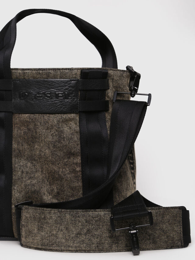 Diesel - D-CAGE BUCKET, Grey Jeans - Shopping and Shoulder Bags - Image 3