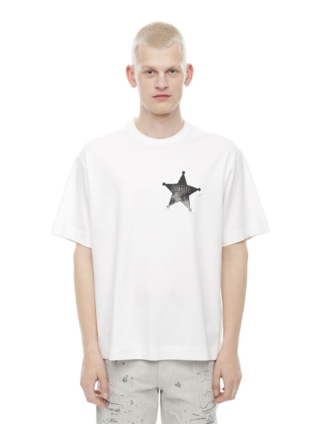 Diesel - TEORIAL-SHERIFF, White - T-Shirts - Image 1