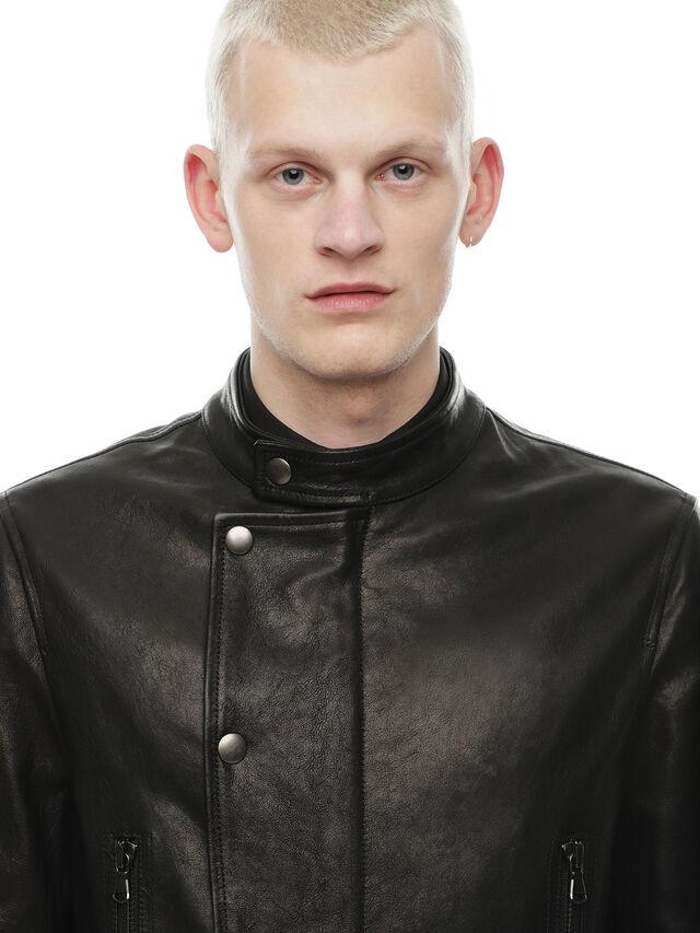 Diesel - LAZING, Black - Leather jackets - Image 5