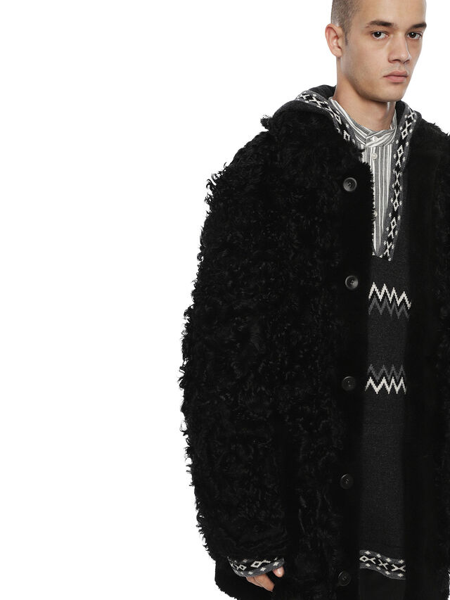 Diesel - LANILON-FS, Black - Leather jackets - Image 3