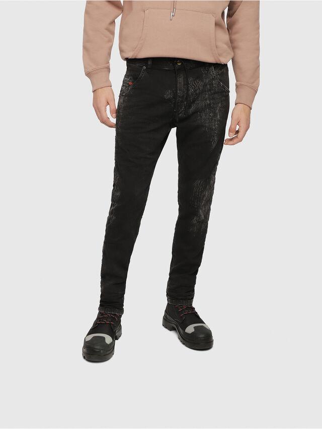Diesel - Krooley JoggJeans 069DT, Black/Dark Grey - Jeans - Image 1