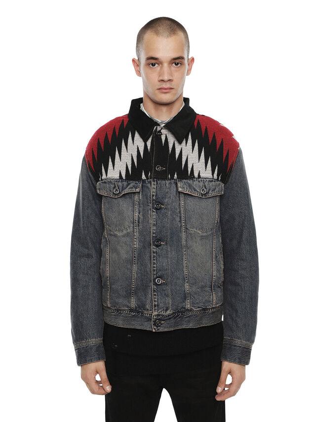 Diesel - JARGO-DEN, Blue Jeans - Jackets - Image 1