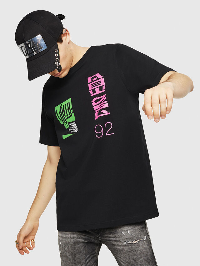 Diesel - T-JUST-Y20, Noir - T-Shirts - Image 1