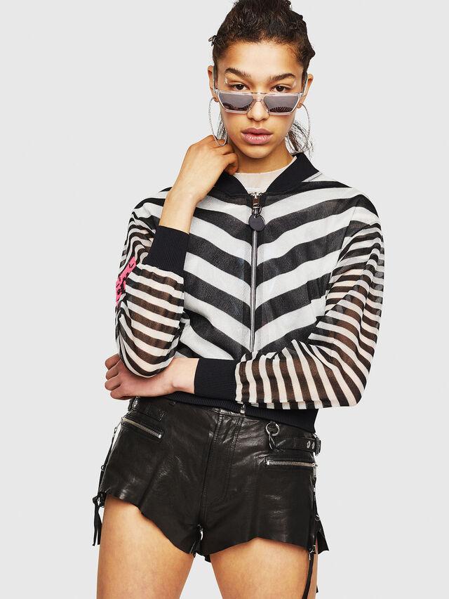 Diesel - M-DIXIT, Black/White - Sweaters - Image 1