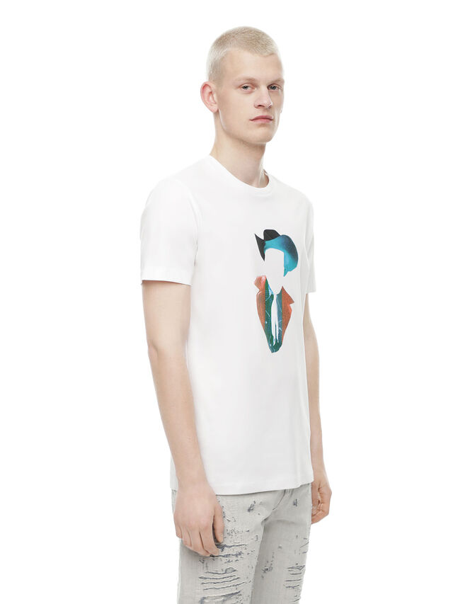 Diesel - TY-TEAR, White - T-Shirts - Image 3