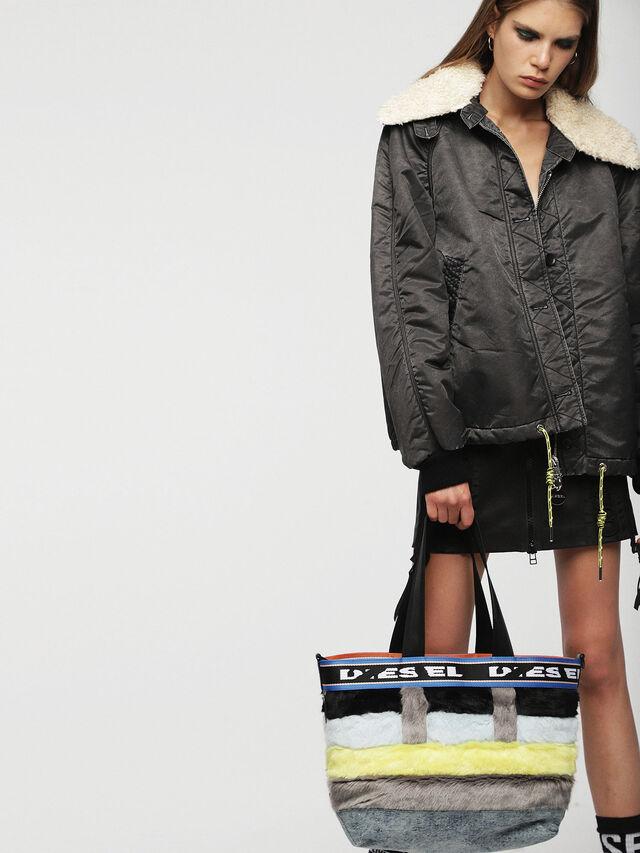 Diesel - ARAJUKU SHOPPER M, Multicolor - Shopping and Shoulder Bags - Image 5