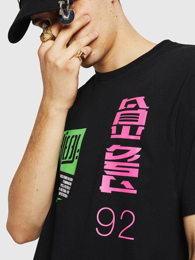 Diesel - T-JUST-Y20, Noir - T-Shirts - Image 3