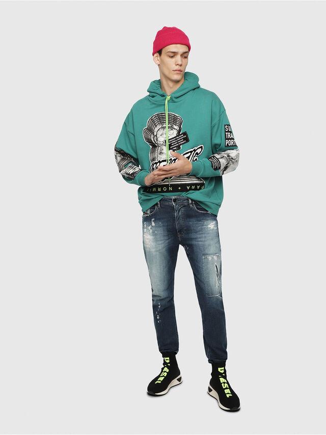 Diesel - Narrot JoggJeans 087AK, Medium Blue - Jeans - Image 4