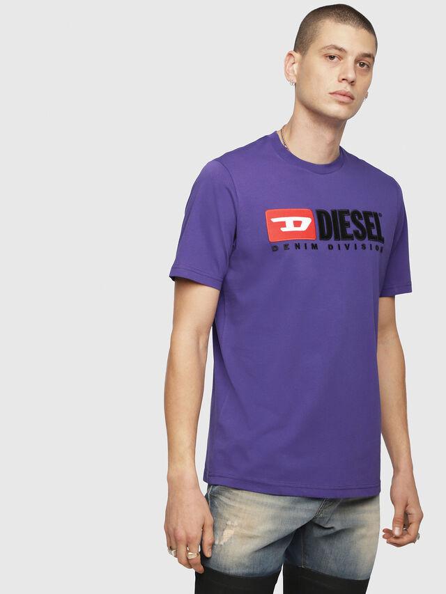 Diesel - T-JUST-DIVISION, Violet - T-Shirts - Image 1