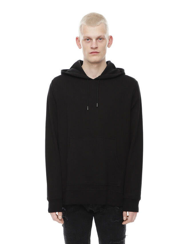 Diesel - SNEILBOOD-PATCHWORK, Black - Sweatshirts - Image 1