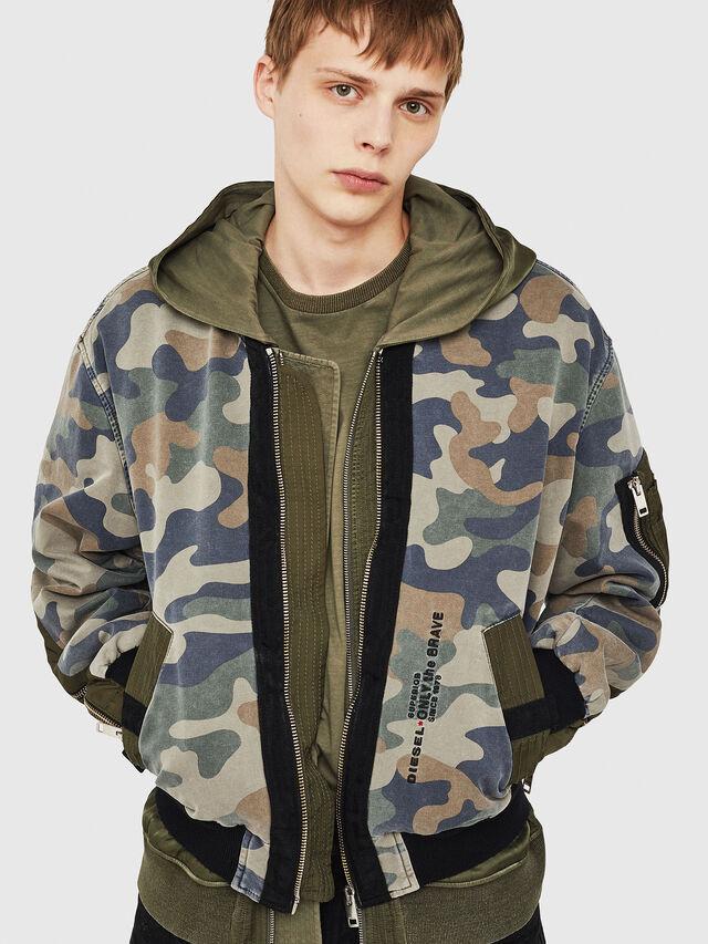 a9637334a12a7 Diesel - D-AZLEY JOGGJEANS, Green Camouflage - Denim Jackets - Image 1