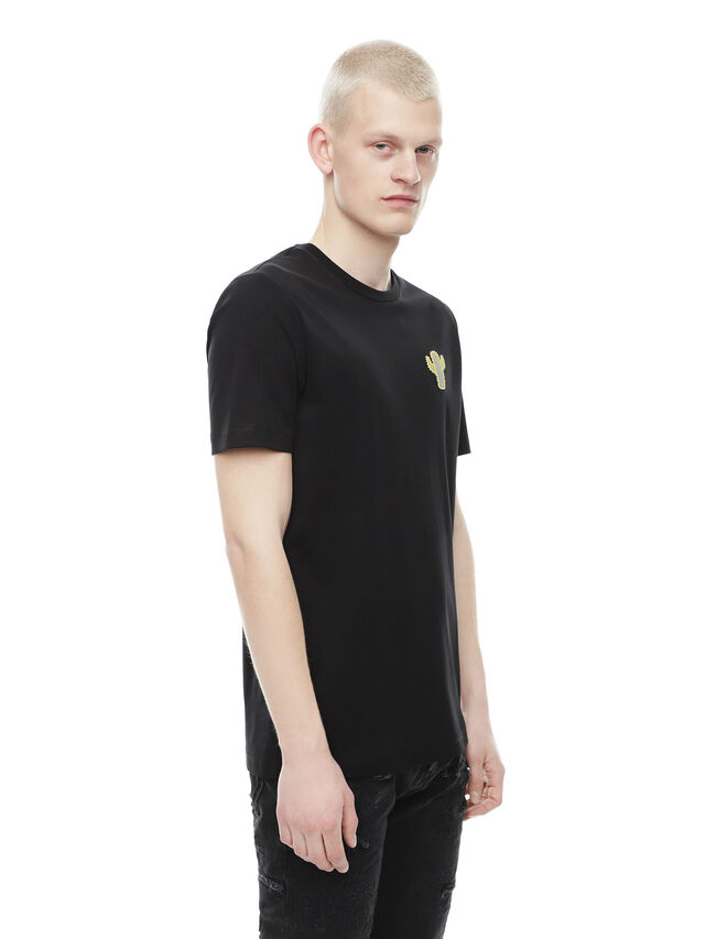 Diesel - TY-CACTUS, Black - T-Shirts - Image 3