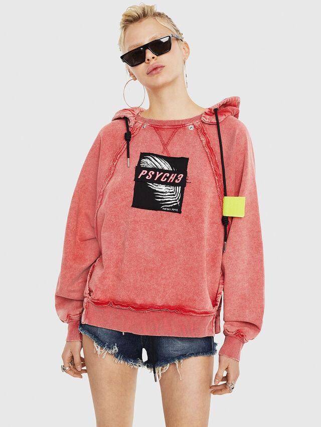 Diesel - F-CAROL, Light Red - Sweatshirts - Image 1