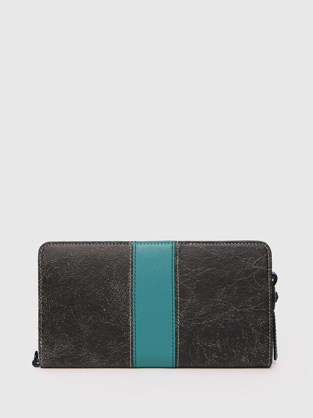 Diesel - NEW GRANATO LOOP, Grey/Blue - Zip-Round Wallets - Image 2