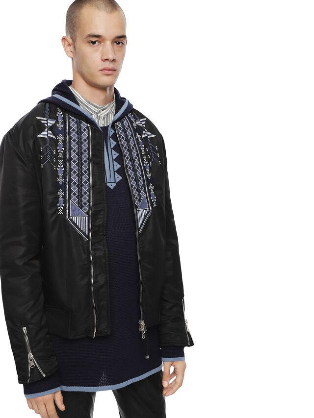 Diesel - JEBIODO, Black/Blue - Jackets - Image 1