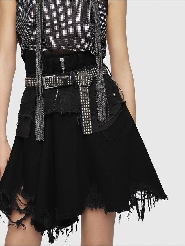 Diesel - DE-FRINSKIRT-P, Black Jeans - Skirts - Image 4
