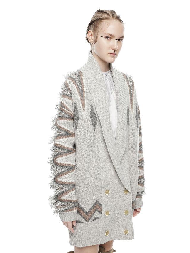 Diesel - MYLOR-LONG, Light Grey - Sweaters - Image 1