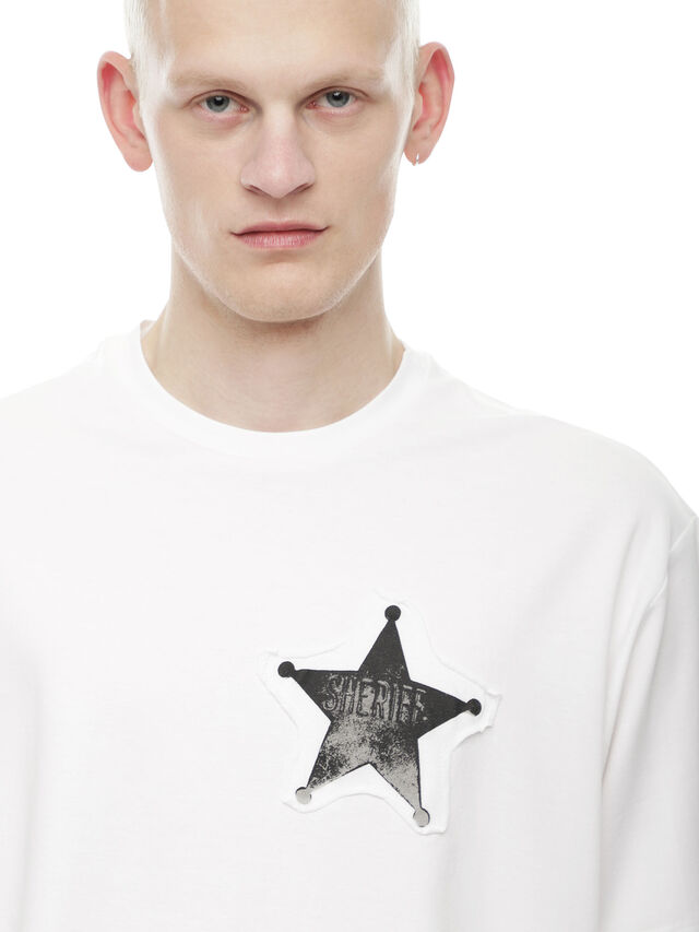 Diesel - TEORIAL-SHERIFF, White - T-Shirts - Image 4