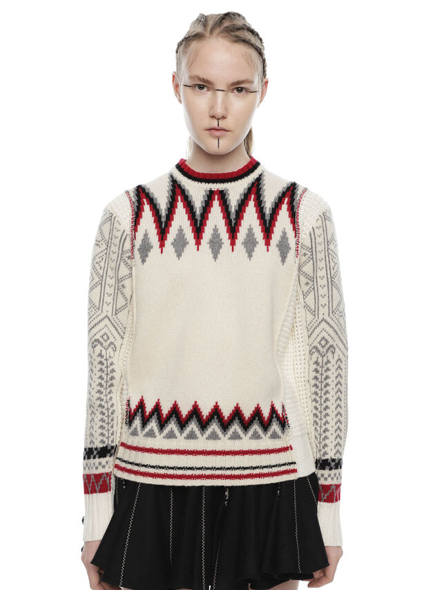 Diesel - MARRET, White/Red - Sweaters - Image 1