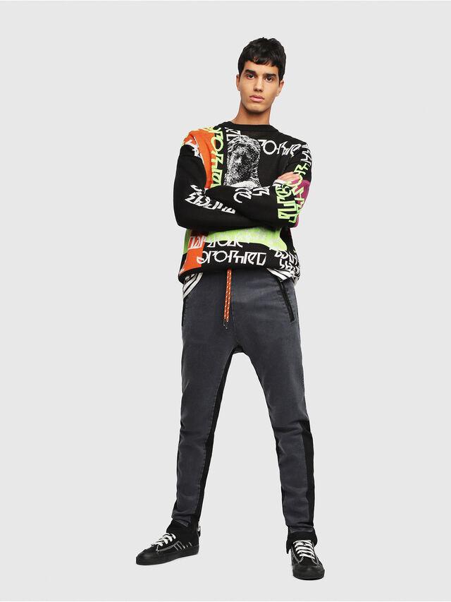 Diesel - D-Eeley JoggJeans 0LAUH, Black/Dark Grey - Jeans - Image 4