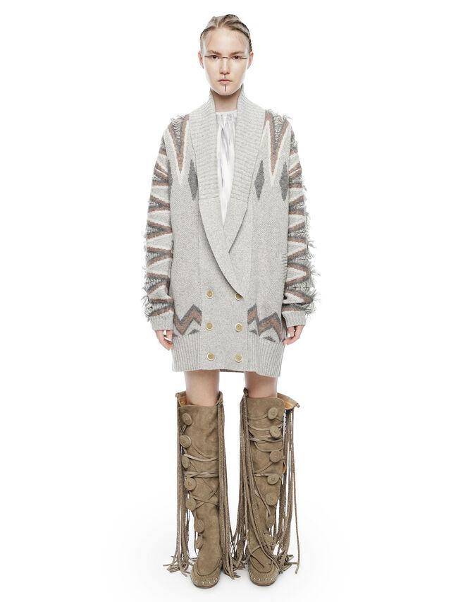 Diesel - MYLOR-LONG, Light Grey - Sweaters - Image 4