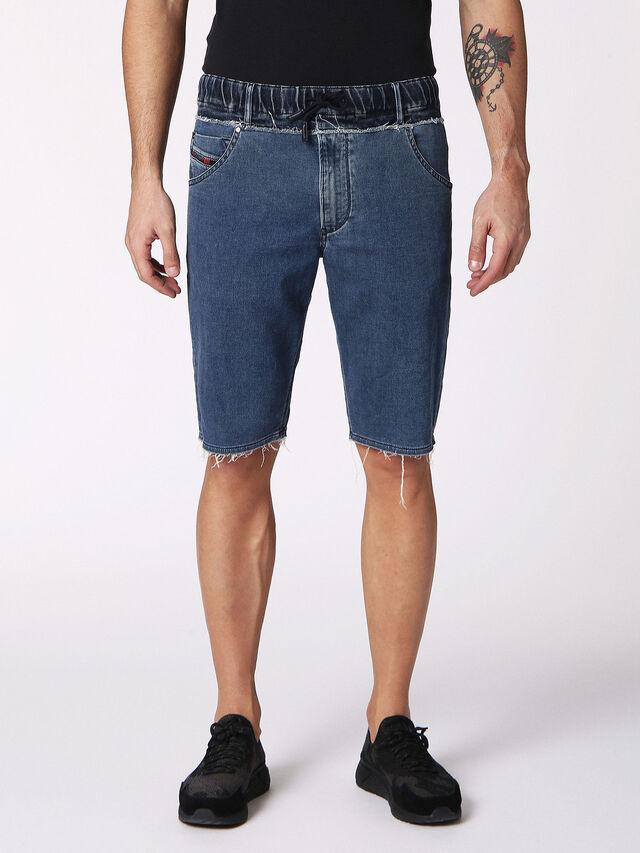 Diesel - KROOSHORT W JOGGJEANS, Blue Jeans - Shorts - Image 1