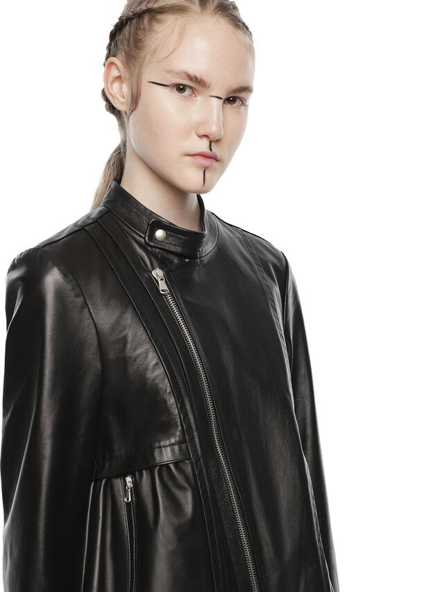 Diesel - LIKY, Black Leather - Leather jackets - Image 3
