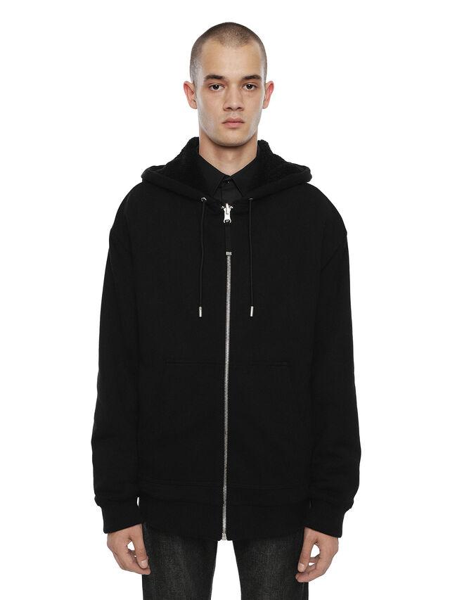 Diesel - FLAMO, Black - Sweatshirts - Image 1