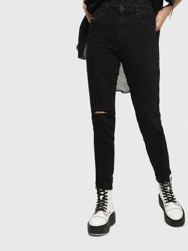 Diesel - Babhila High 084ZN, Black/Dark Grey - Jeans - Image 1