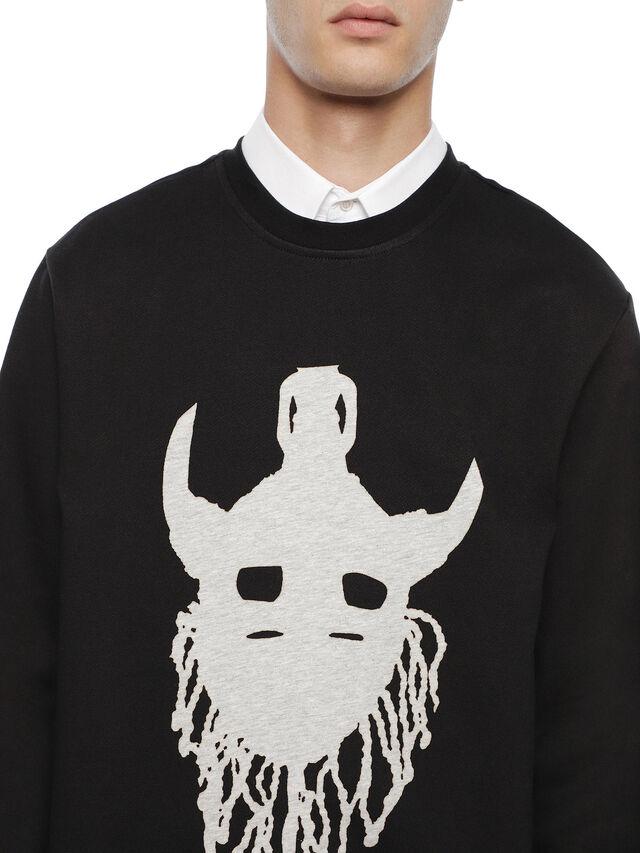 Diesel - SNEILB-M1, Black - Sweatshirts - Image 3